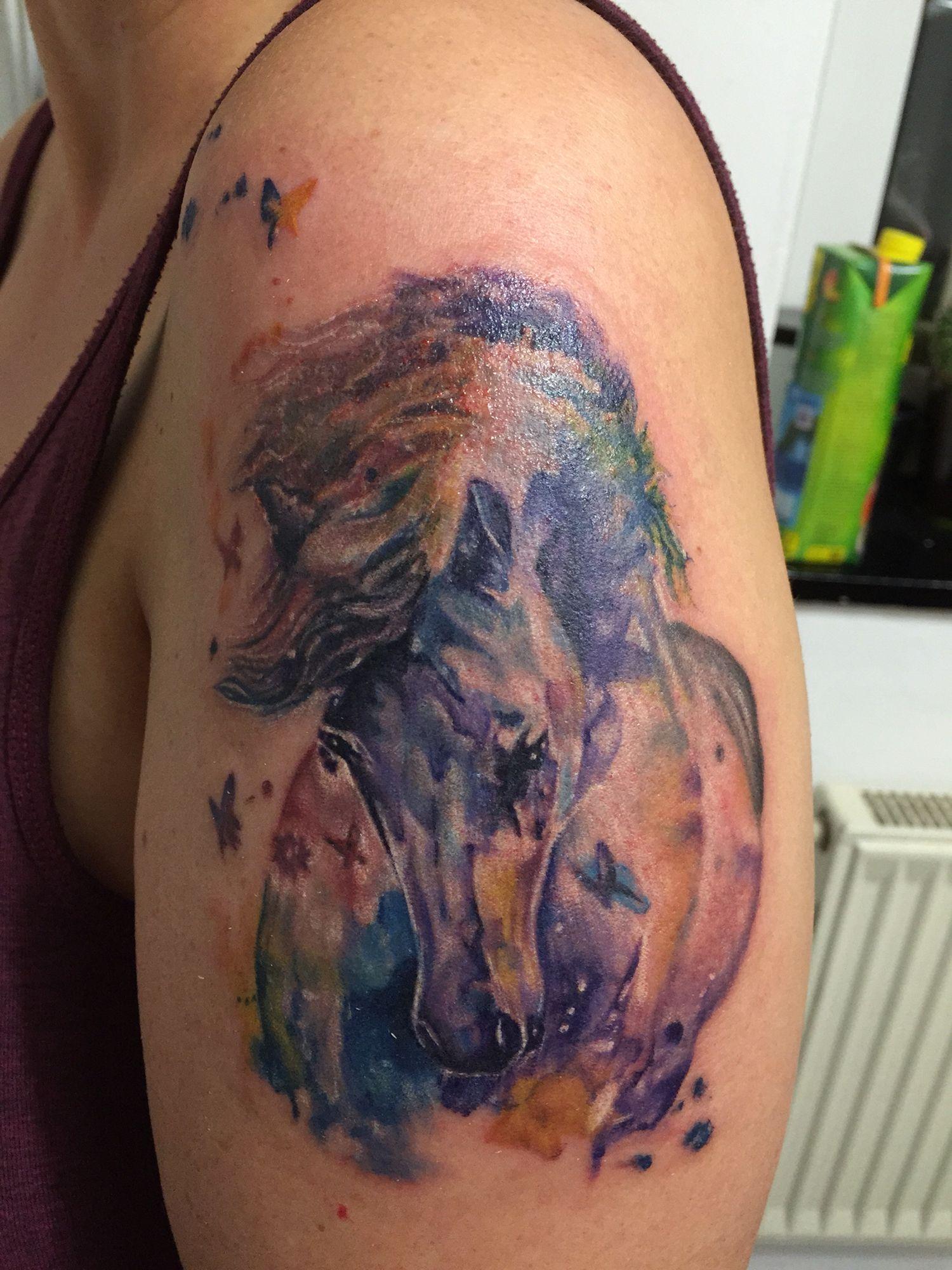 Tattoo Watercolor Pferd Scar Tattoo Tattoos Watercolor Tattoo