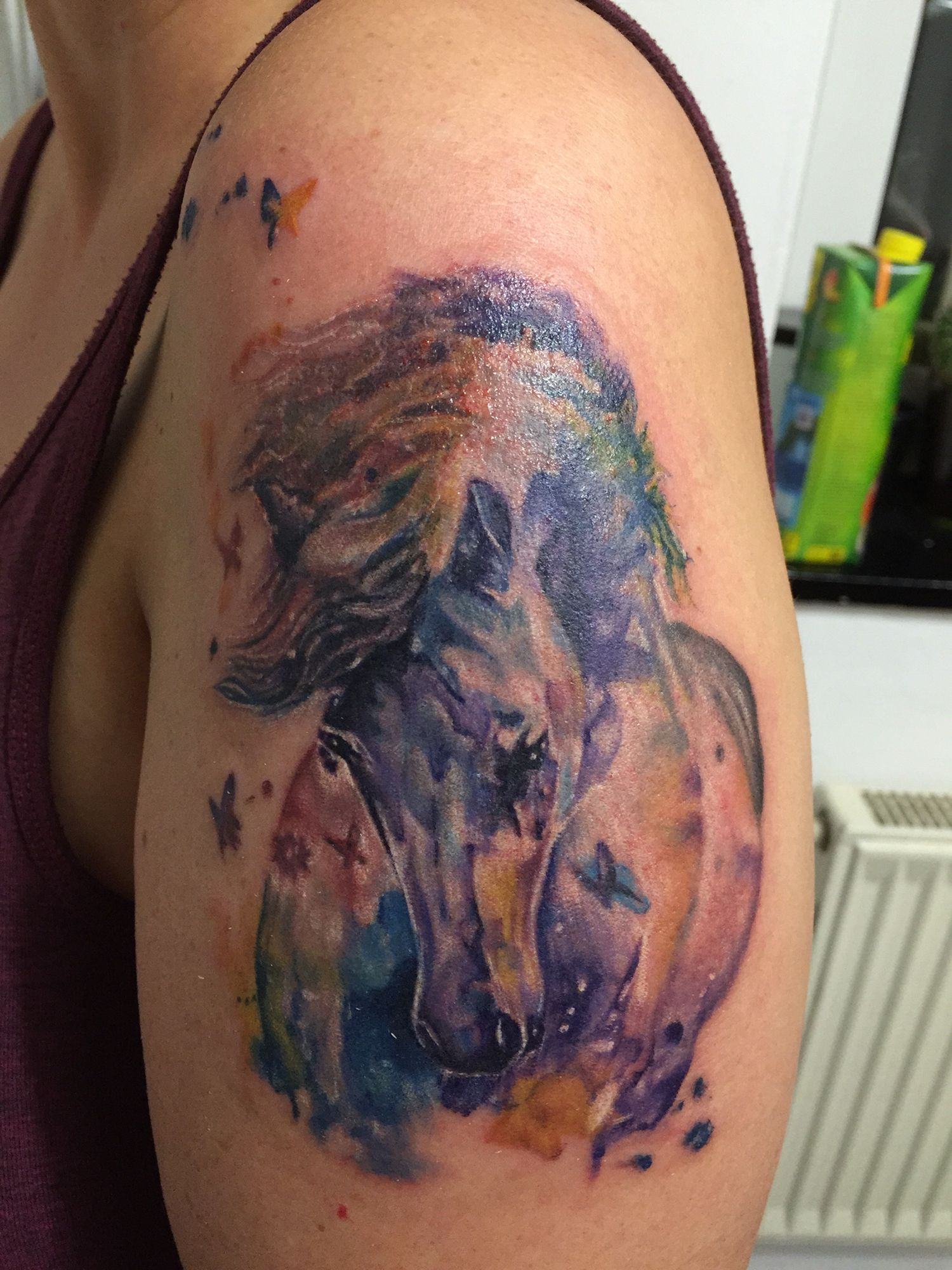 Tattoo Watercolor Pferd Scar Tattoo Tattoos Watercolor Tattoo