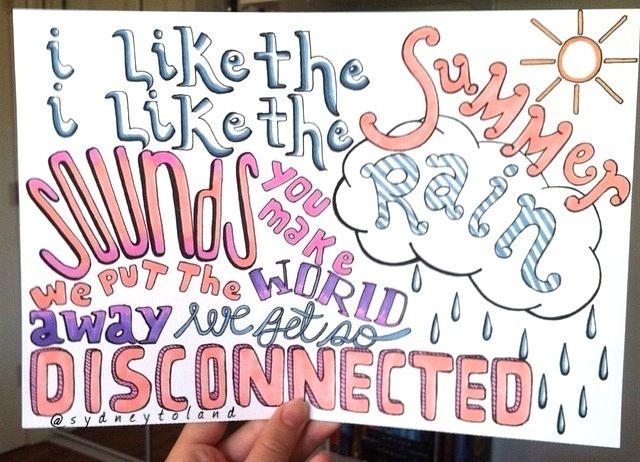 Disconnected 5sos Lyric Drawing 5sos Lyrics Lyric Drawings