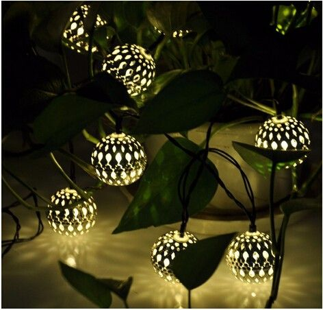 Modern Home Solar Led String Lights   Moroccan Metal Globe Lanterns Solar  Garden Light   Buy