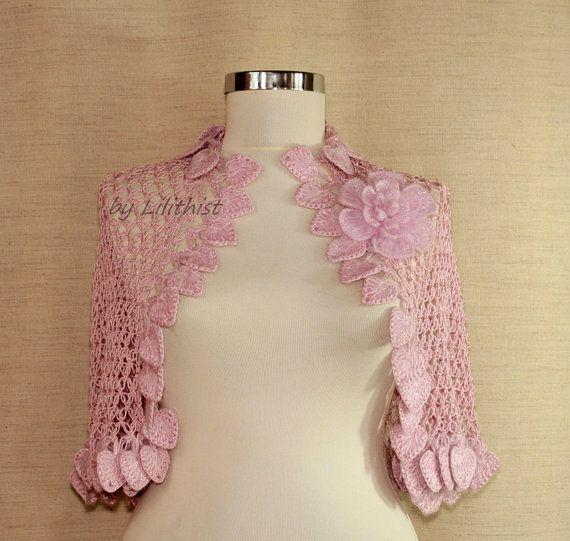 Bolero y encogiéndose de hombros rosa encogiéndose de por lilithist ...