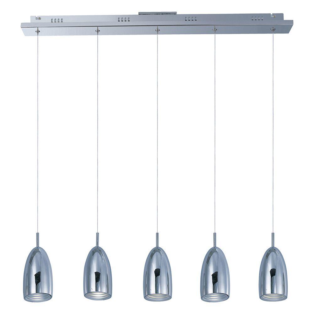Bullet 5-Light LED Linear Suspension by ET2