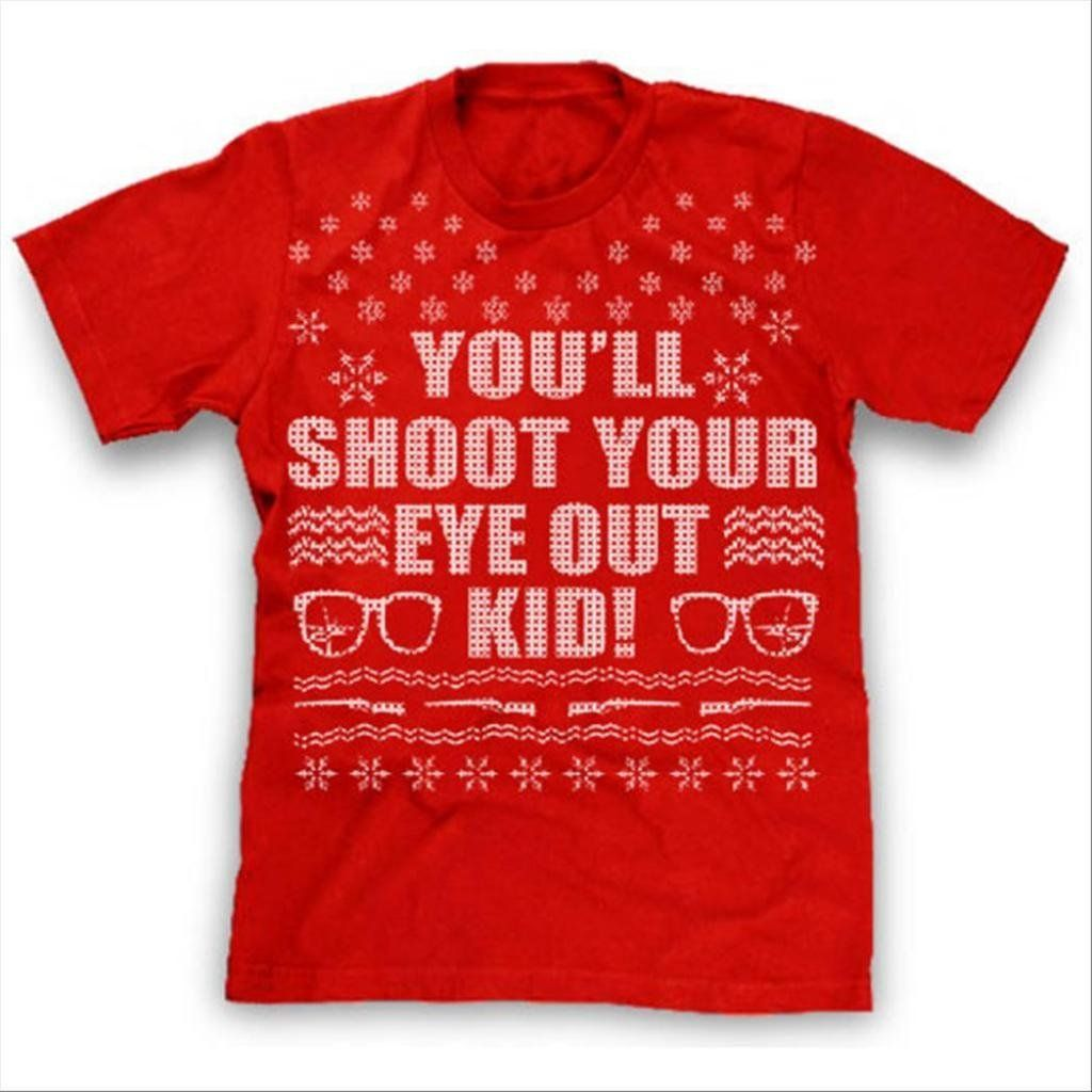 6a78dc626e7 Ugly Christmas Sweater shirt youll shoot your eye out kid funny christmas  vacation tee