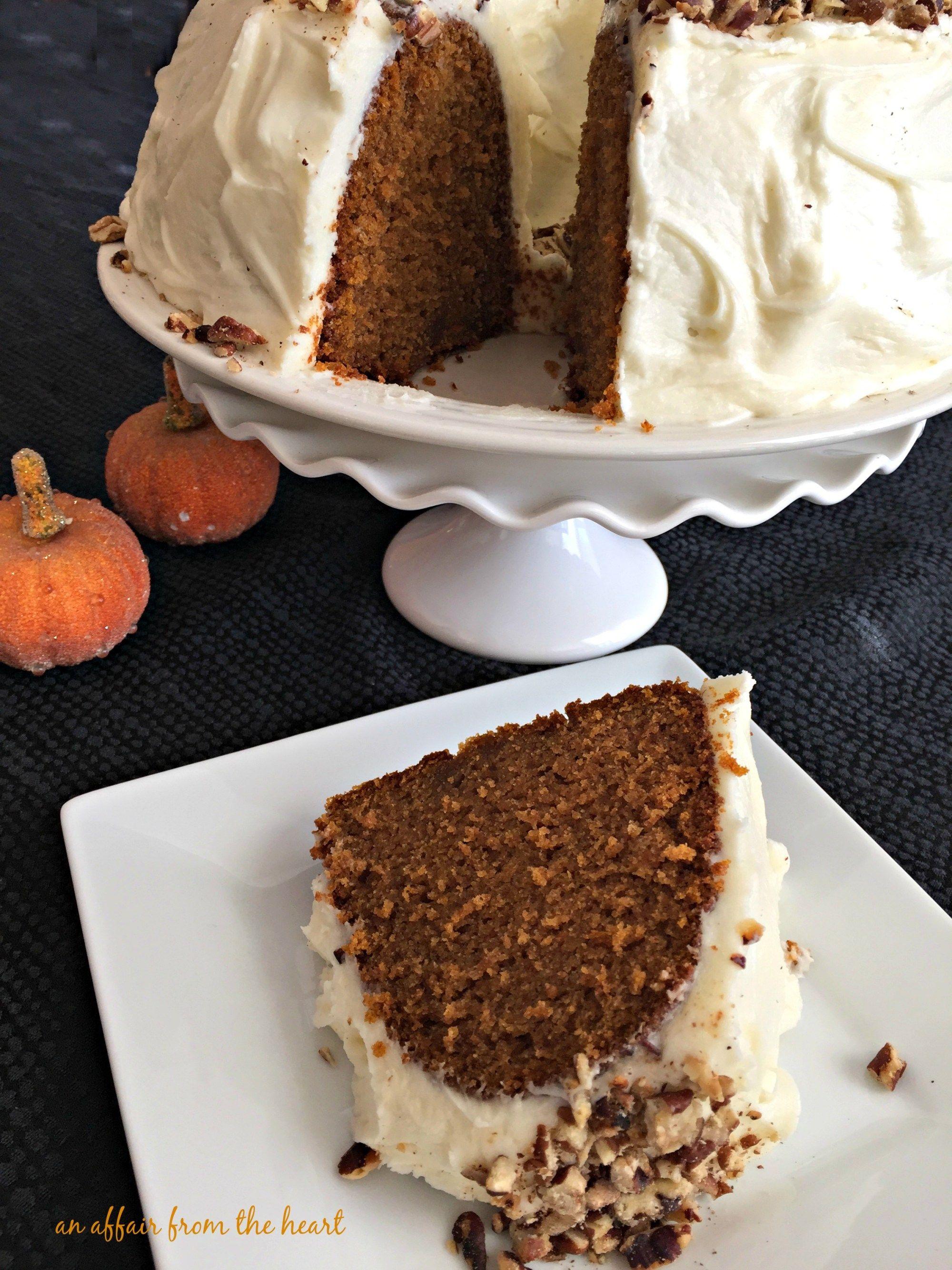 Cinderella Cake Pumpkin Bundt Cake with Cream Cheese Frosting ...