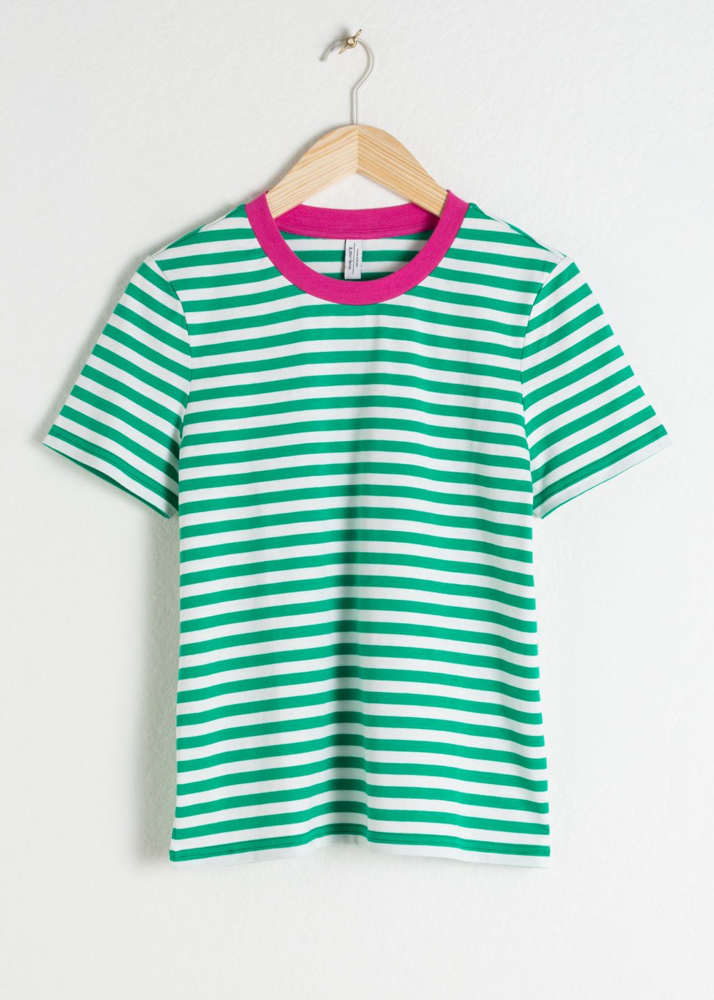 d8efb112f3563d Striped Tee - Green / Pink - Tops & T-shirts - & Other Stories