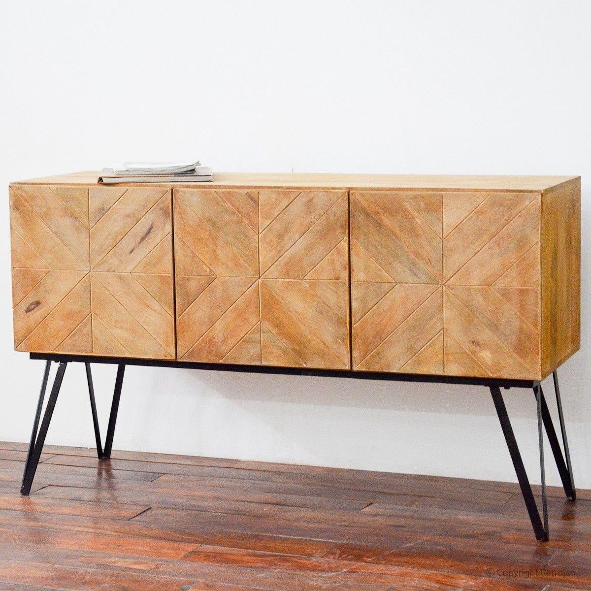 Discount Designer Furniture Online: Paxton Modern Designer 3 Door Sideboard – Retrojan