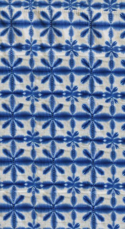 coquita   Shibori   Pinterest   Impresión en tela, Azul y Tela