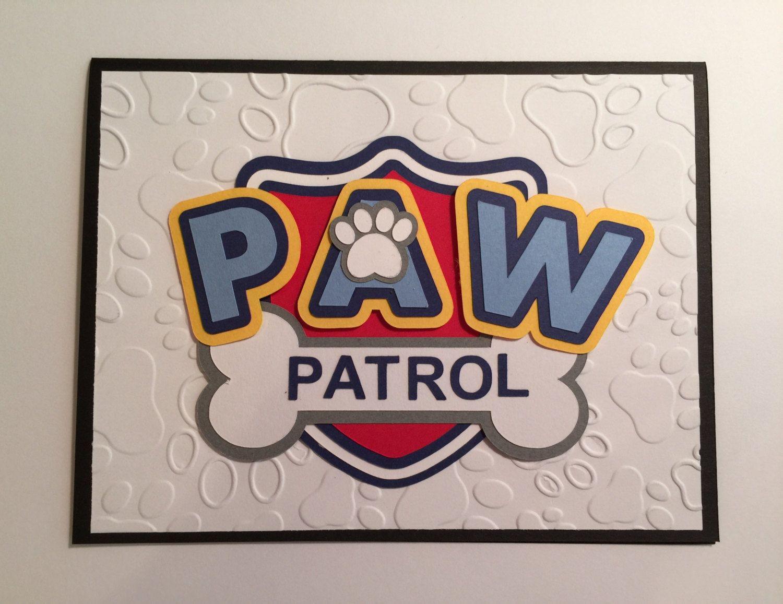 Handmade Paw Patrol Birthday Card Paw Patrol Birthday Paw Patrol