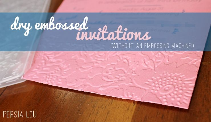 how to dry emboss without a cuttlebug or embossing machine Wedding Invitation Embossing Machine how to dry emboss without a cuttlebug or embossing machine pretty crafty idea! wedding invitation embossing machine