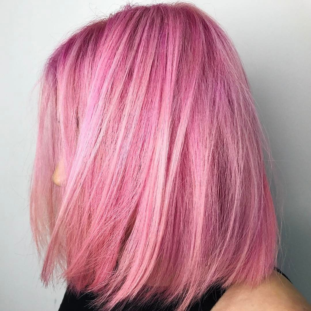 Cool 90 Alluring Short Haircuts For Thin Hair Fine And Modish Check More At Http Newaylook Com Best Short Hairc Hair Color Pink Pink Ombre Hair Hair Styles