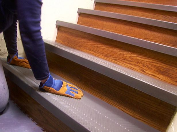 Installing Non Slip Stair Treads Stair treads Basements and Diy