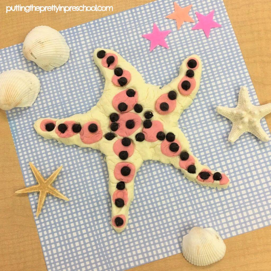 Playdough Chocolate Chip Sea Star In 2020 Sea Star Edible Playdough Playdough