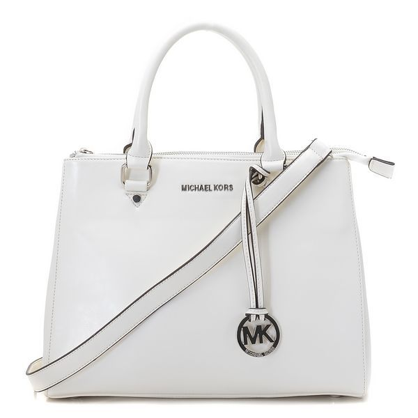 Michael Kors Large Bedford Dressy Tote White Silver Products ...