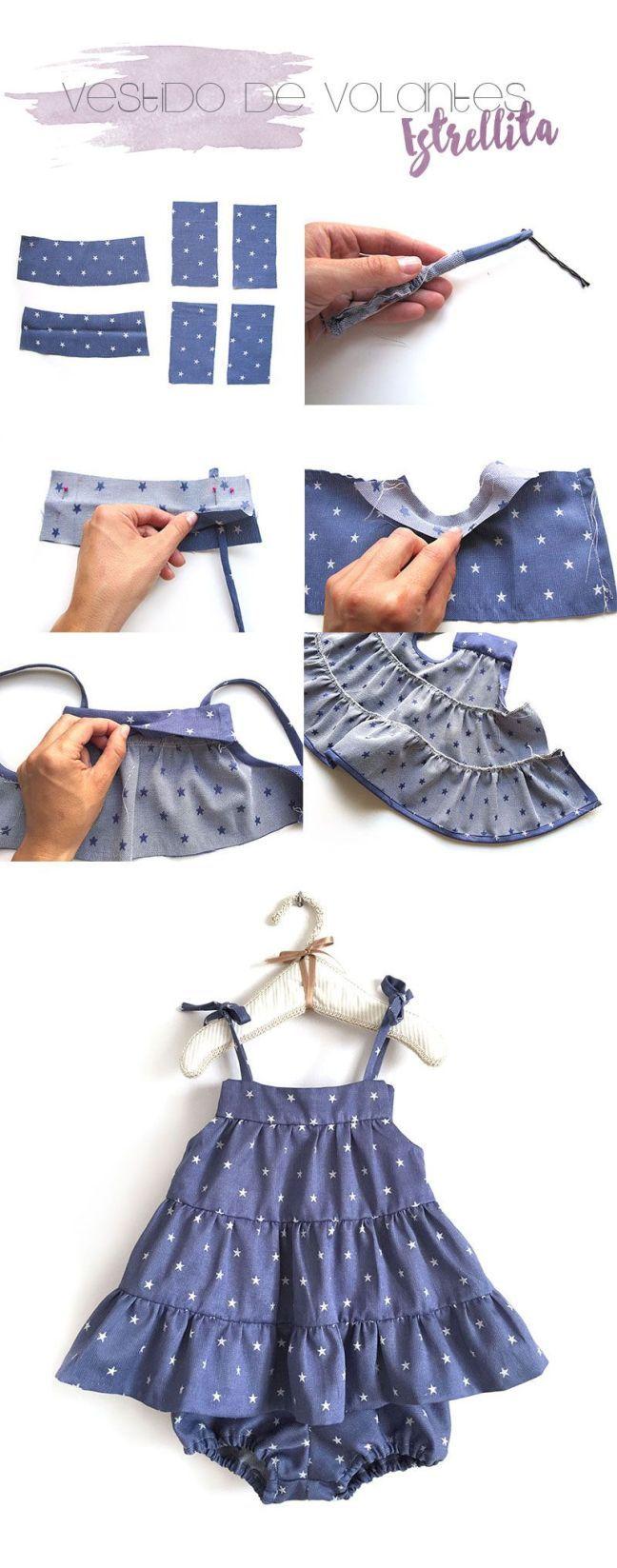 4 tutoriales de ropa de bebé de verano DIY | Tutoriales de ropa ...