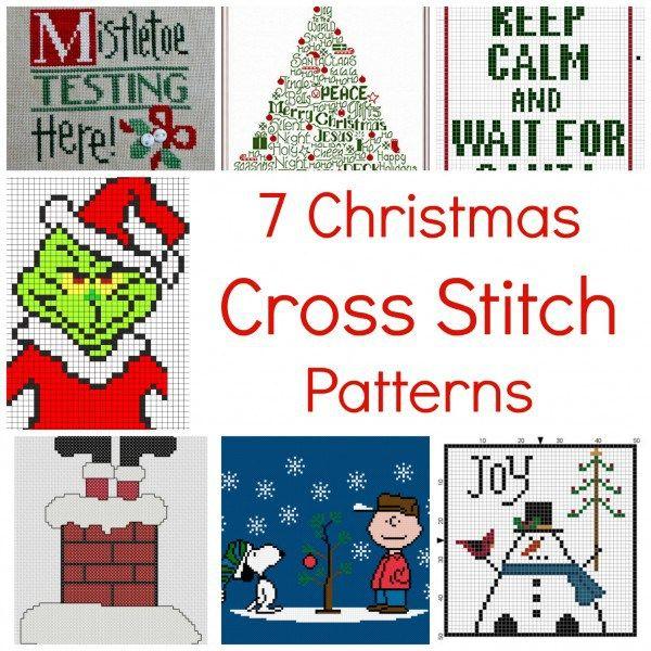7 Christmas Cross Stitch Patterns