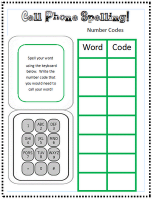 My word study center and a free Cell Phone spelling sheet!
