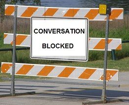 Image result for conversation roadblocks