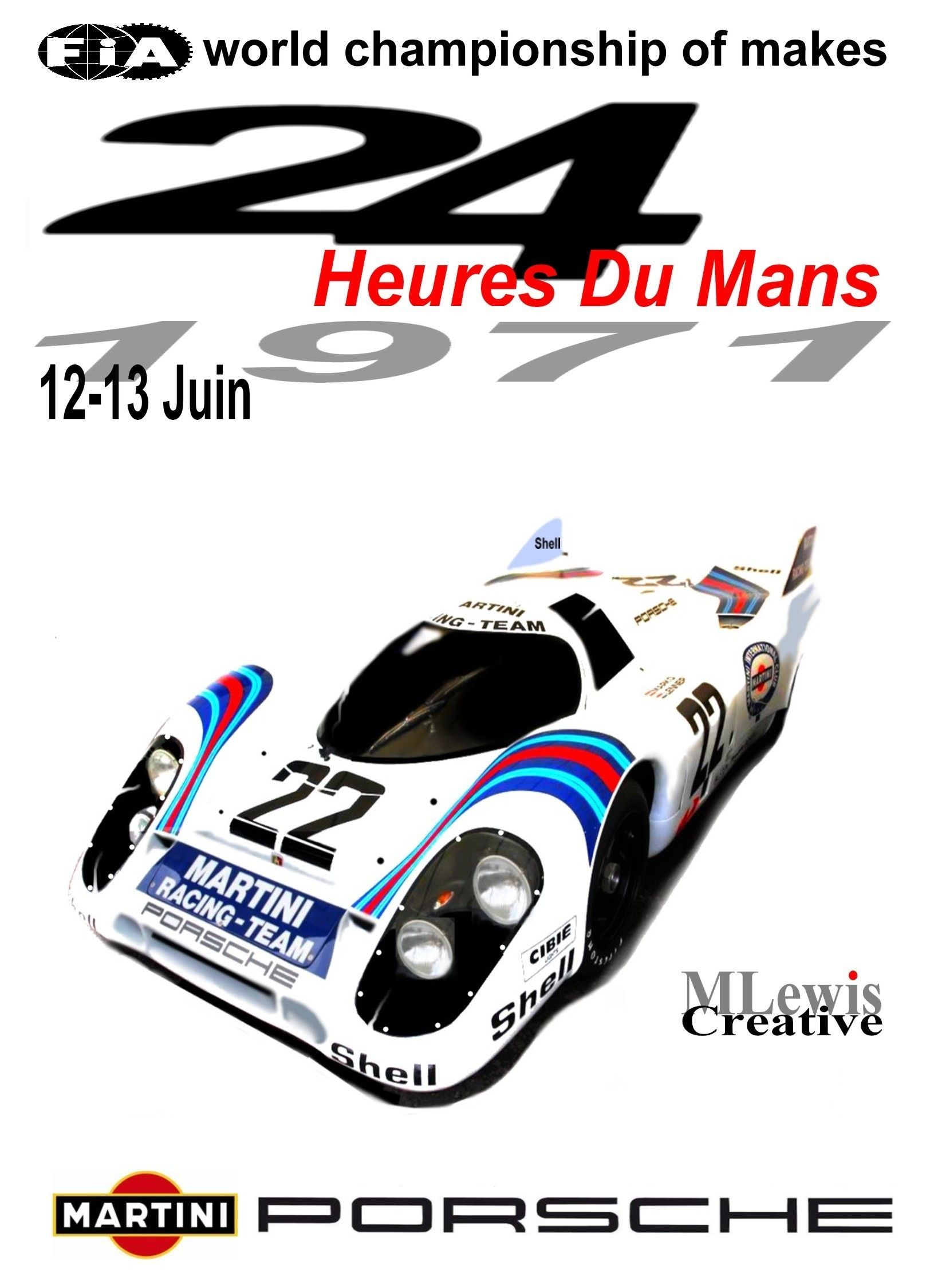 Retro le mans 1971 poster by mlewis creative garage pinterest bilar - Garage volkswagen le mans ...