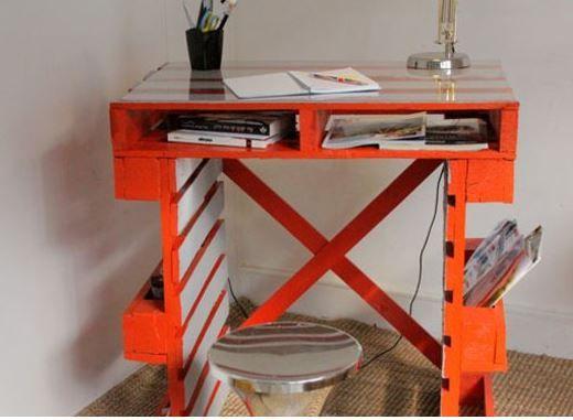 Se fabriquer un bureau original et déco pour presque rien, à partir