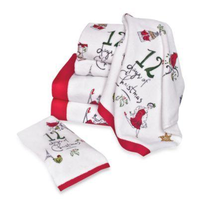 Lenox 12 Days Of Christmas Bath Towels Bedbathandbeyond Com