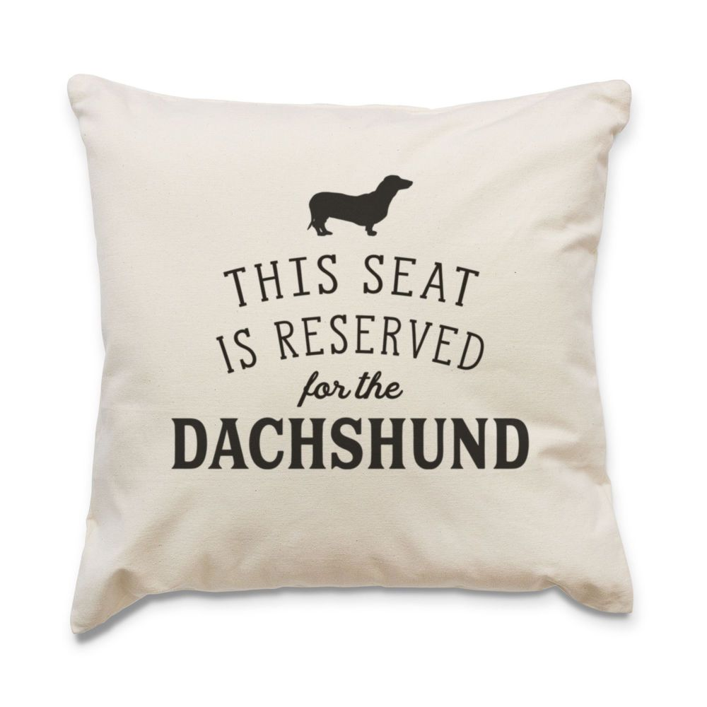 Details about NEW RESERVED FOR THE DACHSHUND Cushion