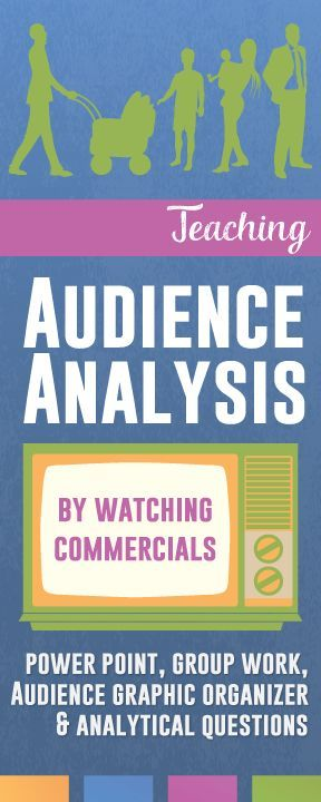 Teaching Audience Analysis with Commercials Public speaking