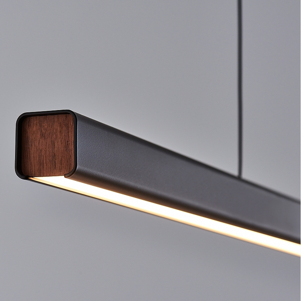 Mumu Black 1200 Led Pendant Light Linear Pendant Lighting Modern Lighting Design Linear Lighting