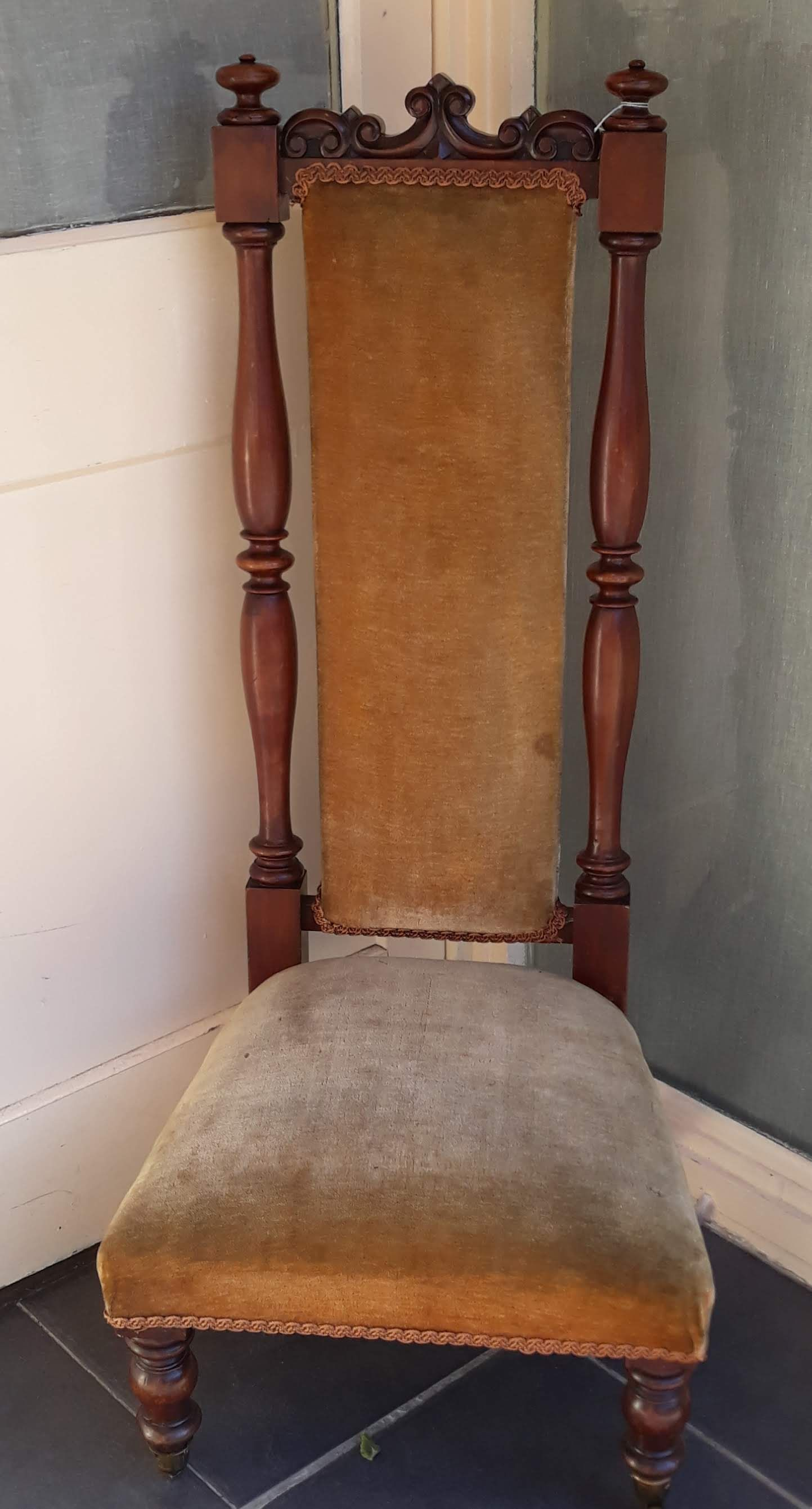 best sneakers fd01c a60c8 Description: Victorian High Back Nursing Chair with turned ...