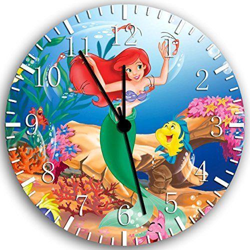 New Little Mermaid Ariel Wall Clock 10 | Mermaid room ...