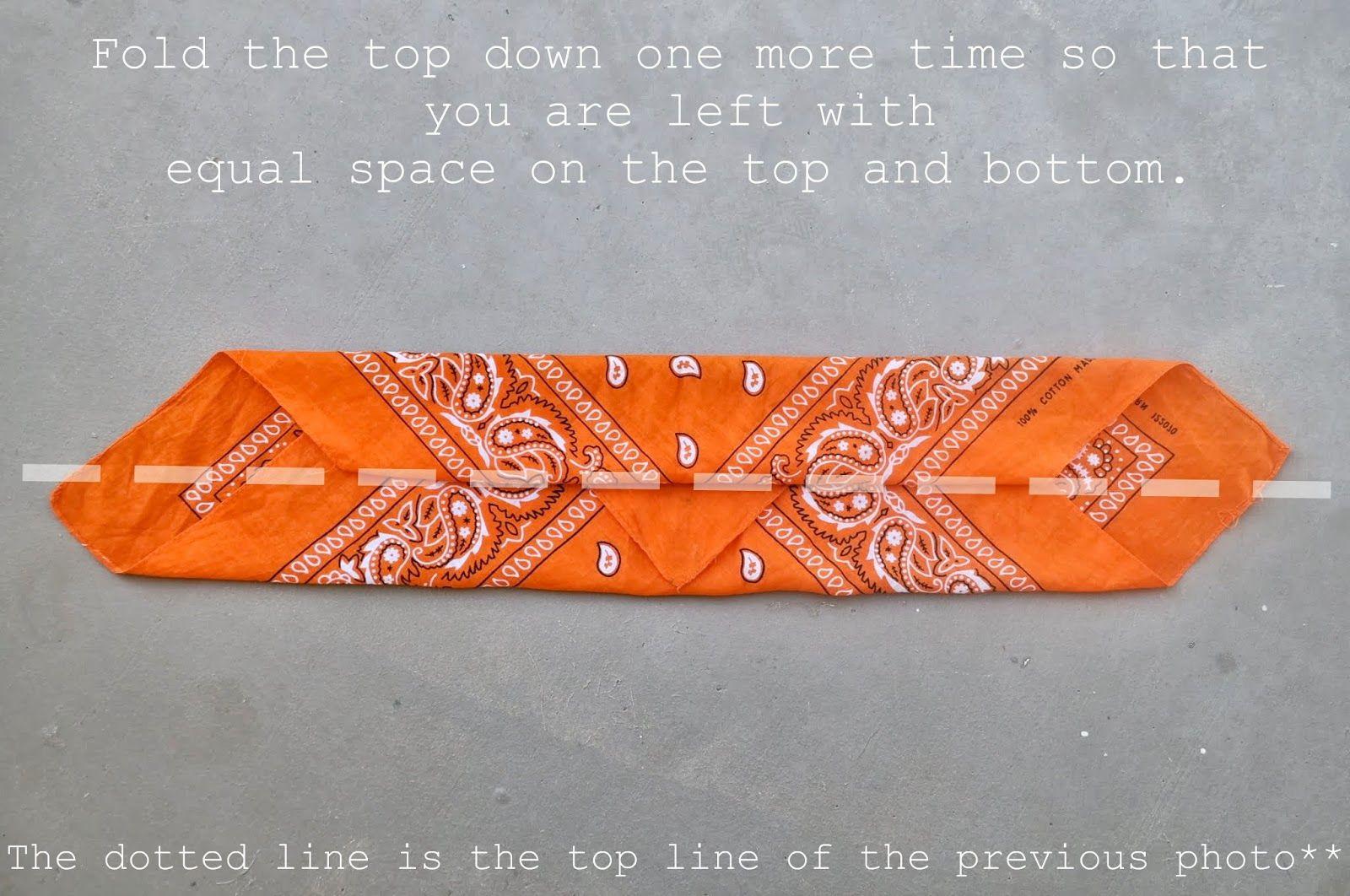 All Size Fits One  How to FOLD a Bandana Into a Headband  efb8a5fe38d