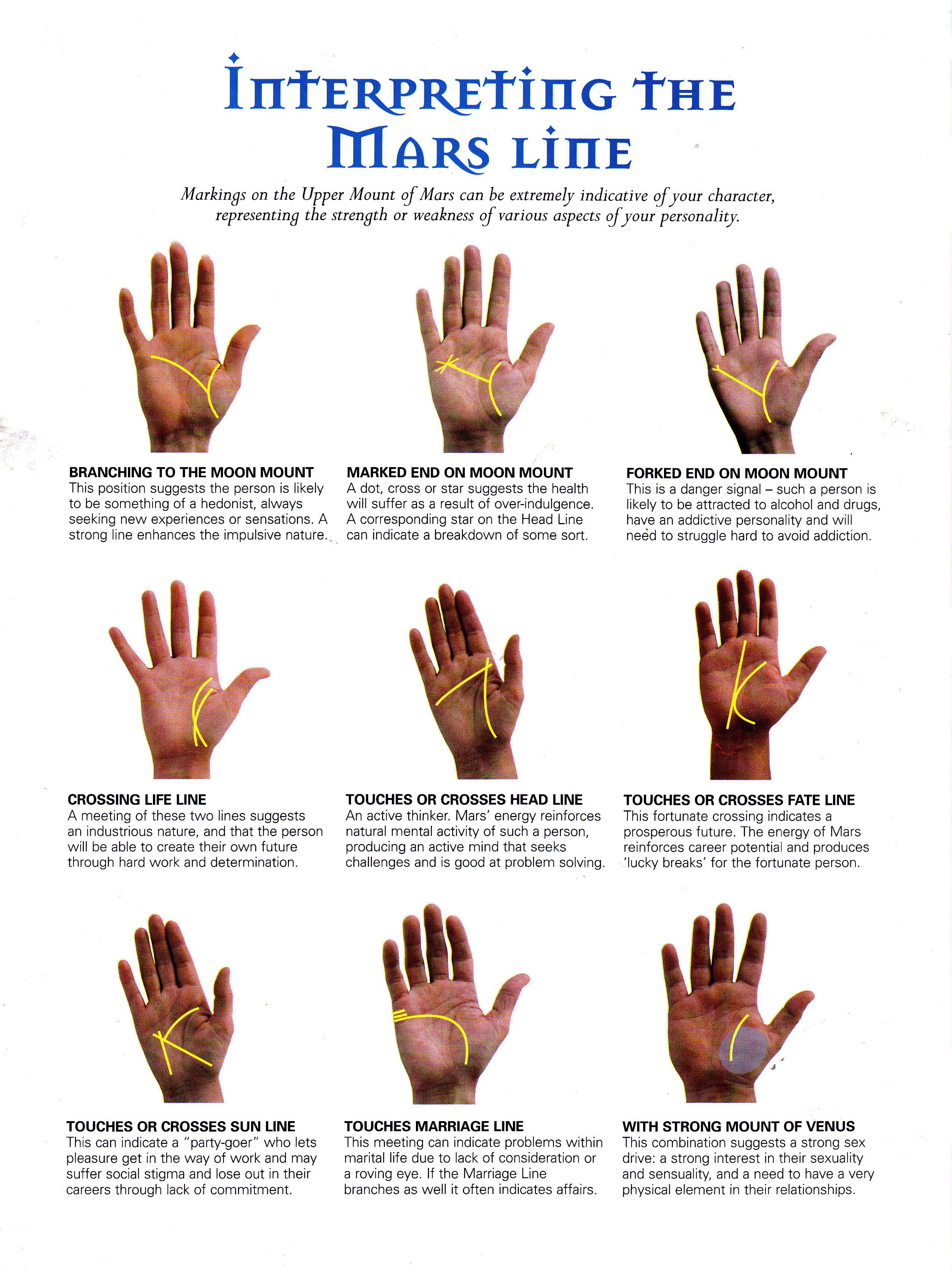 Interpreting the mars line | Palmistry, Palm reading, Psychic