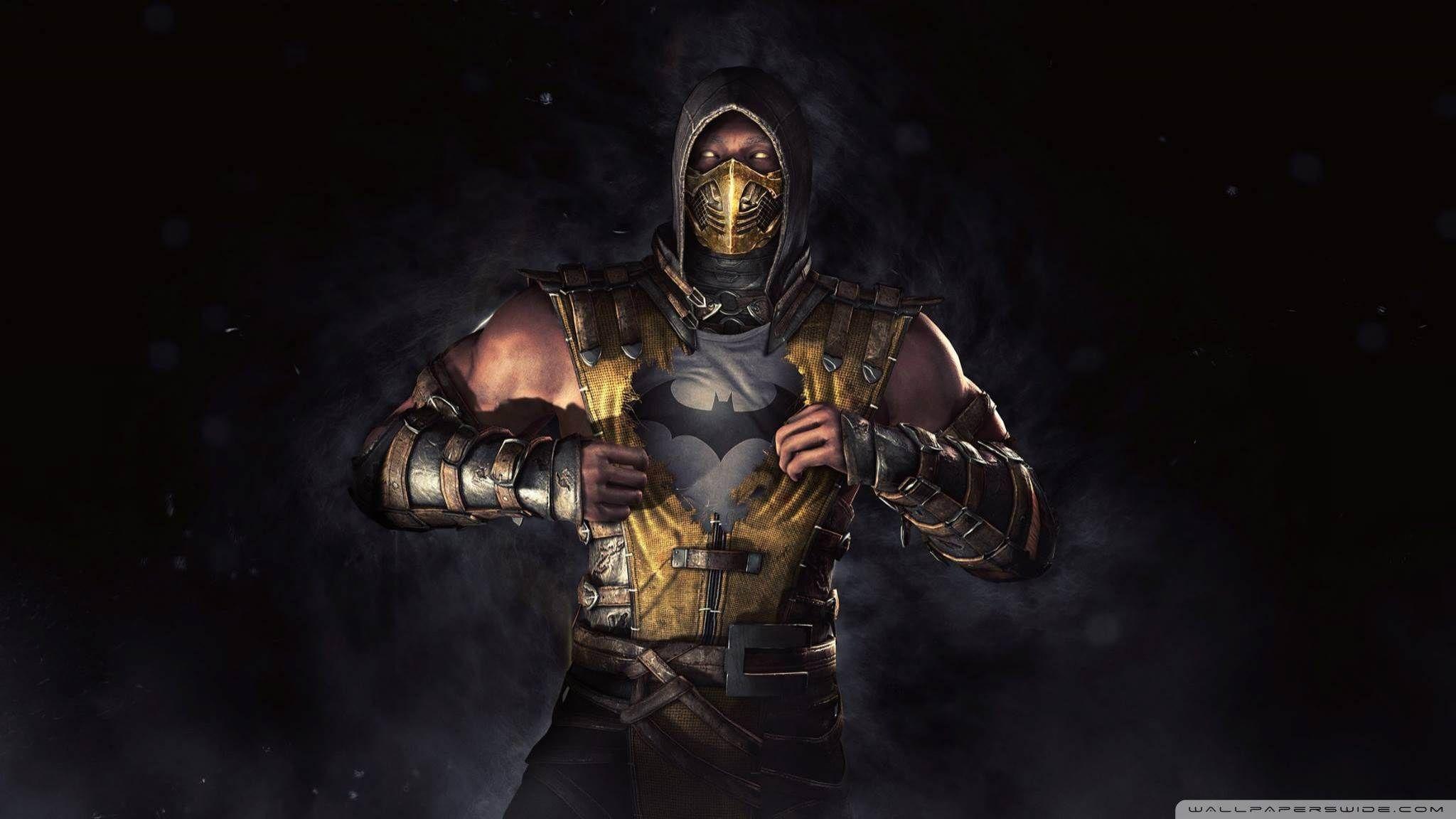Mortal Kombat Scorpion Hd Desktop Wallpaper High Definition 2048