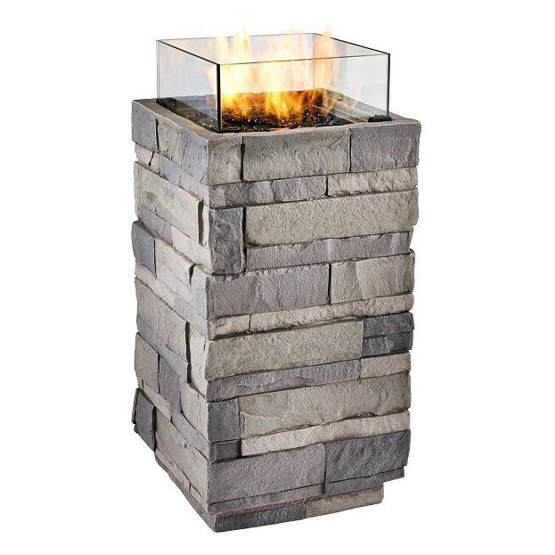 Shop Real Flame 10 000 Btu Liquid Propane Fire Column At Lowe 39