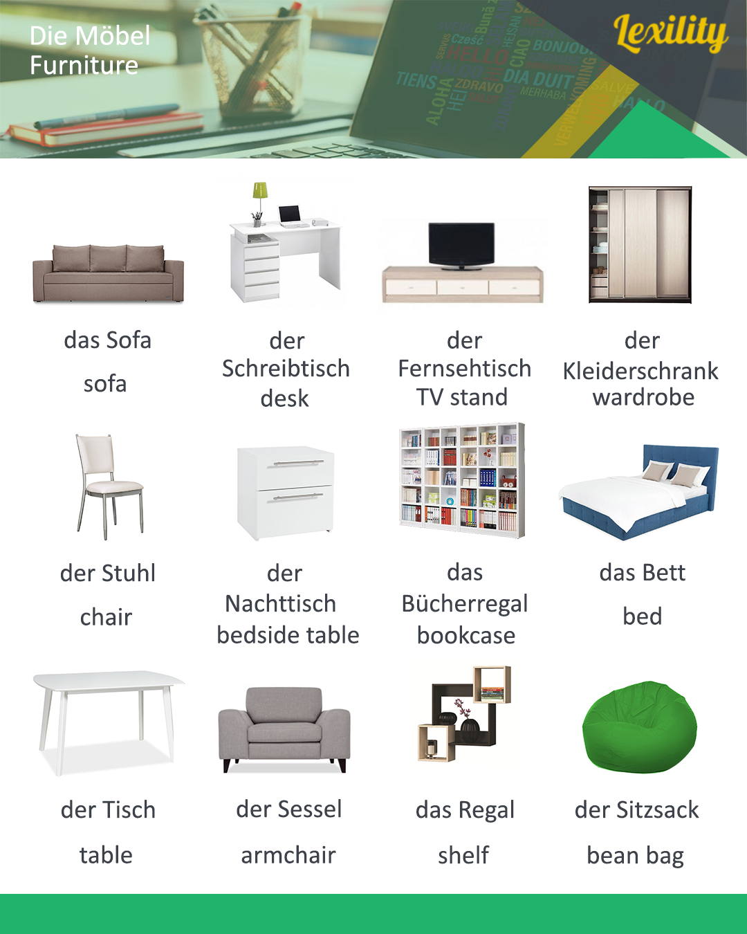 Wondrous Furniture In German Language China Language Learn Home Interior And Landscaping Ologienasavecom