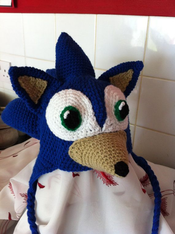 Sonic the hedgehog style hat crochet pattern with by TinyWeeTinks ... 41a4fbad2e4