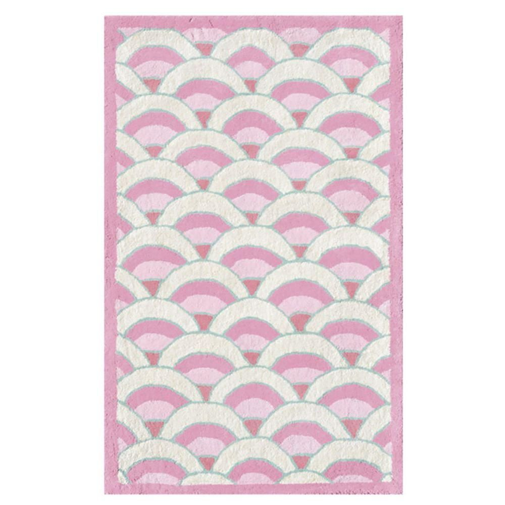 Chi-Lin Pink 2 ft. 8 in. x 4 ft. 8 in. Indoor Area Rug