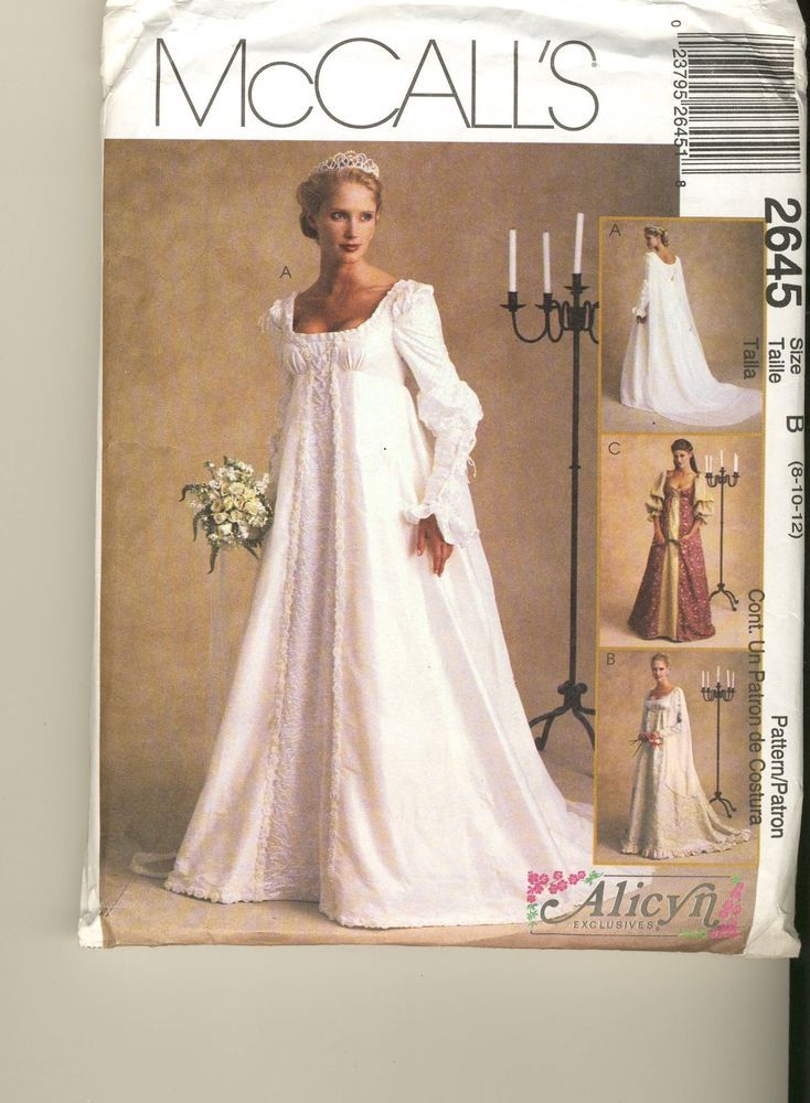 Bridal Gown ~Renaissance Medieval Alicyn Pattern size 8-10-12 ...