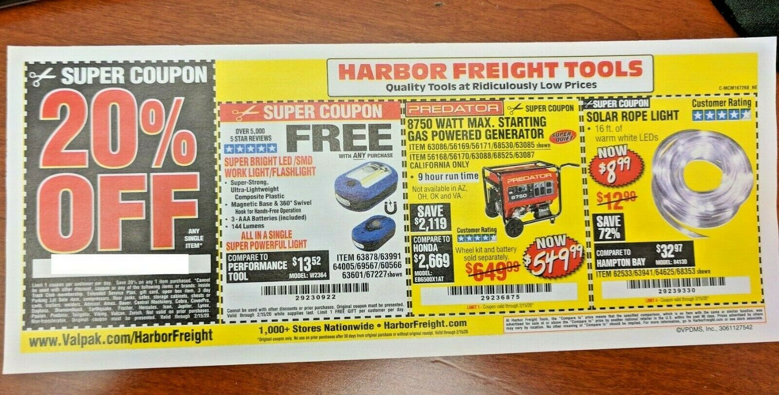 Harbor Freight 20 Off Single Item Coupon Home Depot Lowes