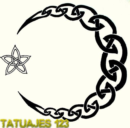 Media Luna Celta Moon Tattoo Designs Moon Tattoo Celtic Tattoo