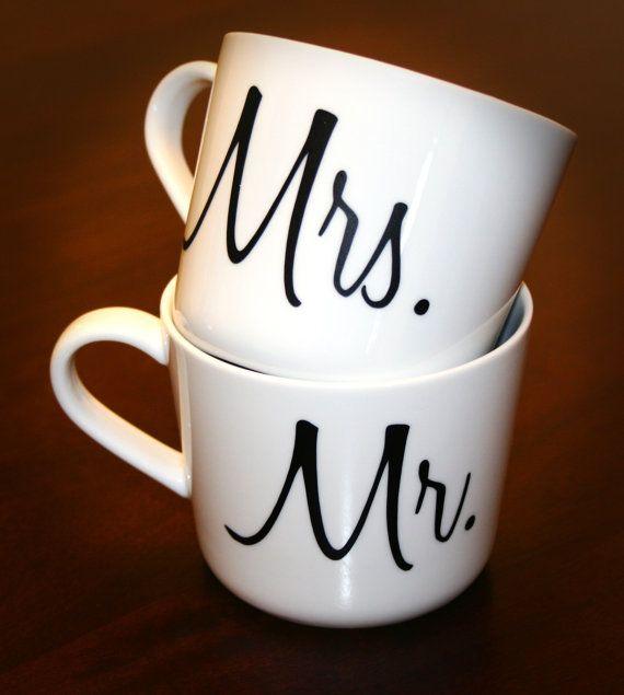 Mr. And Mrs. Coffee Or Tea Mugs