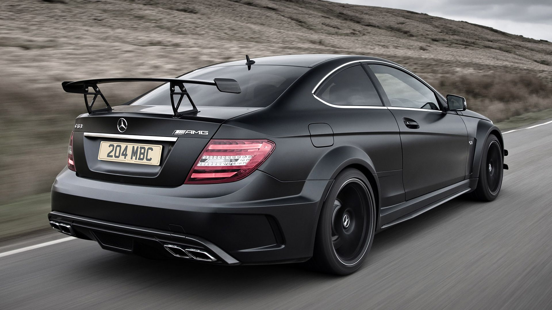 2012 Mercedes Benz C63 Amg Coupe Black Wallpapers Hd Images