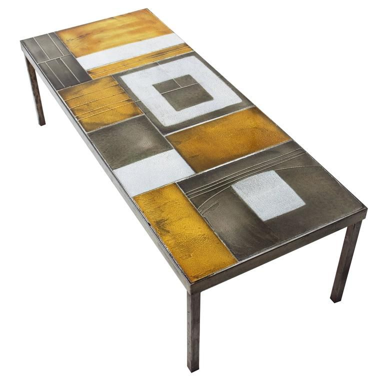 Roger Capron Ceramic Coffee Table 1960s Iron coffee table 1960s