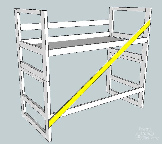 Pin On Diy, Can You Turn A Regular Bunk Bed Into Loft