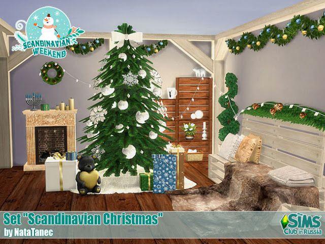 Albero Di Natale The Sims 3.Scandinavian Christmas By Natatanec Skandinavische Weihnachten Sims 4 Sims 4 Hauser