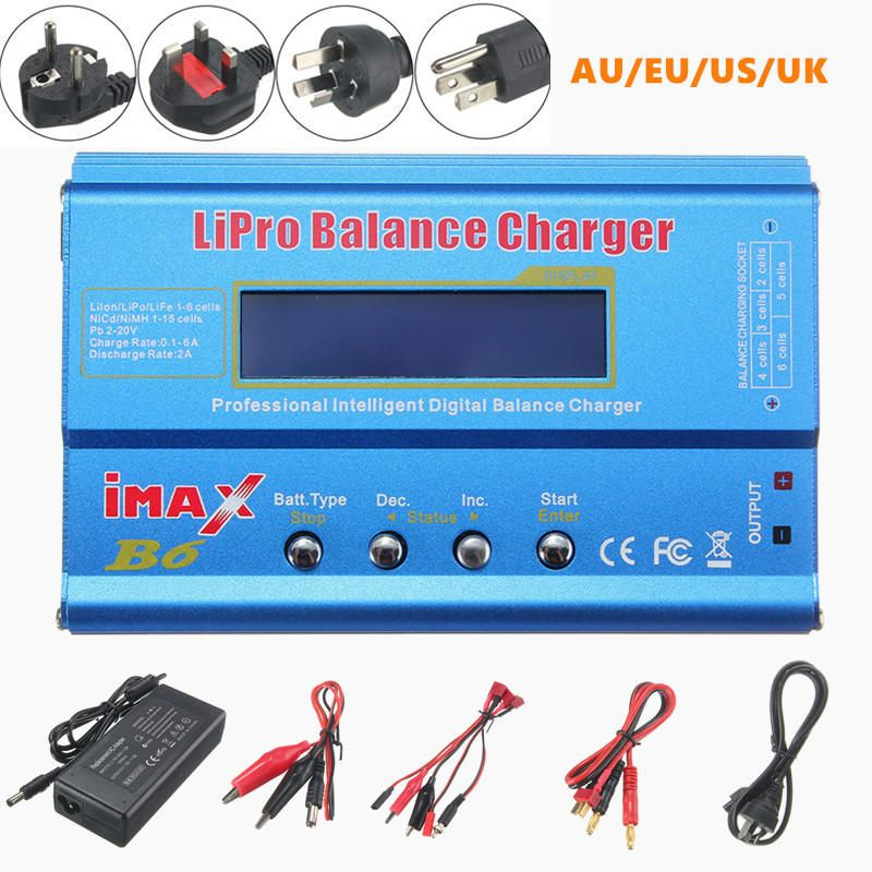 iMAX B6 80W 6A Lipo Battery Balance Charger with Power