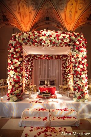 The Indian Wedding Ceremony Mandap A Photograph Showing Floral Used To Decorate