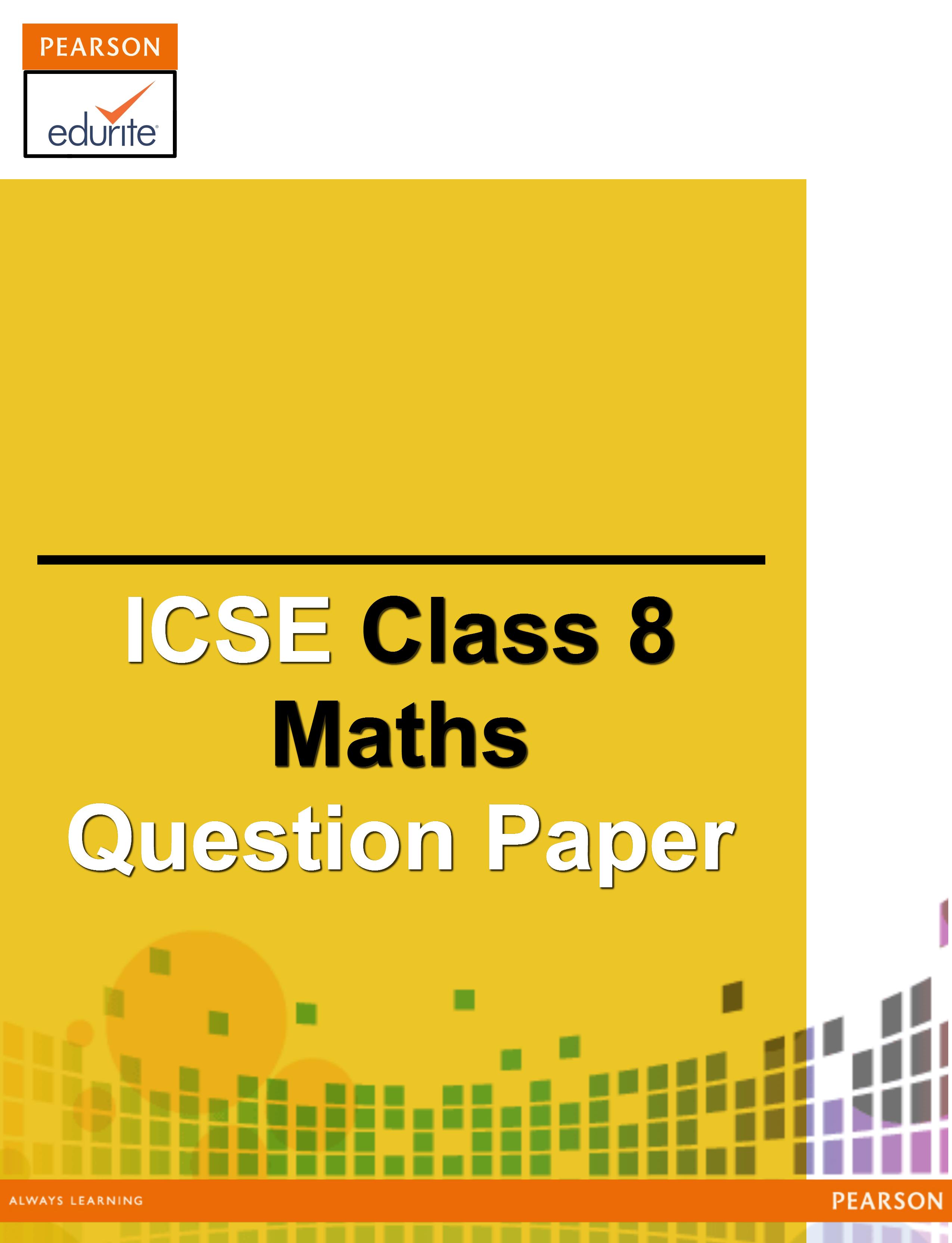 Icse Class 8 Maths Question Paper