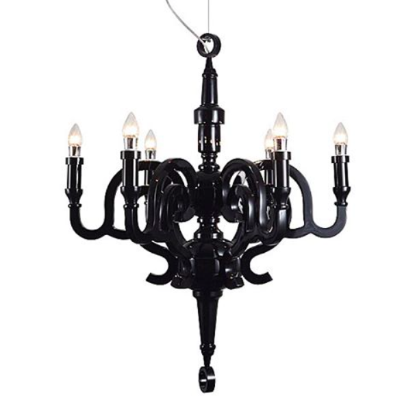 Feeling Serious Noir Vibes With The Moooi Studio Job Paper Chandelier Now At