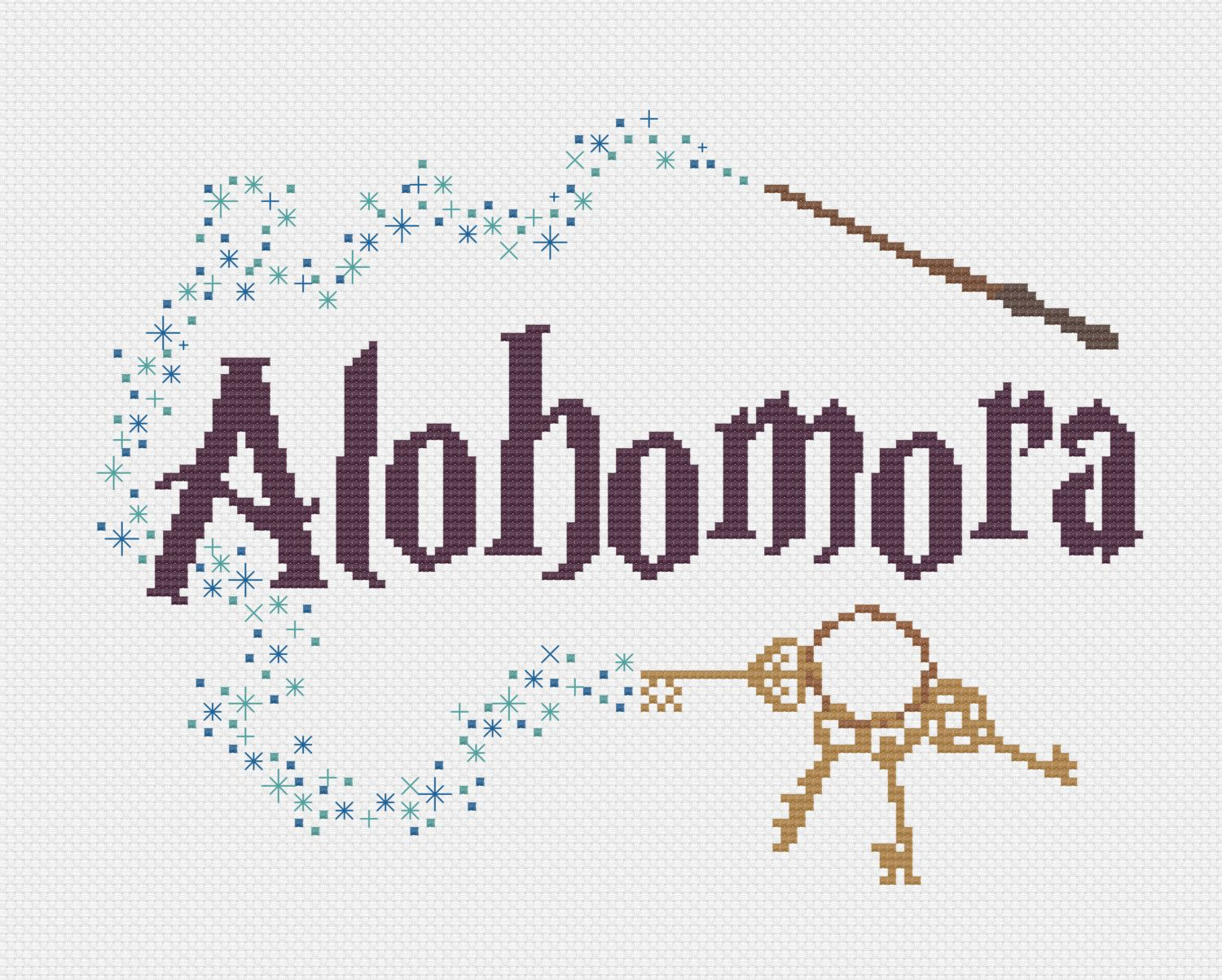 PDF Alohomora Harry Potter Cross Stitch Pattern por CarlyDoodles ...