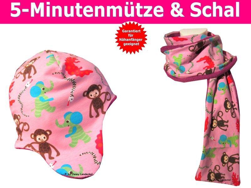 5 Minuten-Mütze und Schal, Schnittmuster | Mütze, Schals und Kindermode